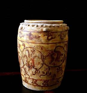 Annamese Lotus Petal Collar Ivory Glazed Jar, 12th C