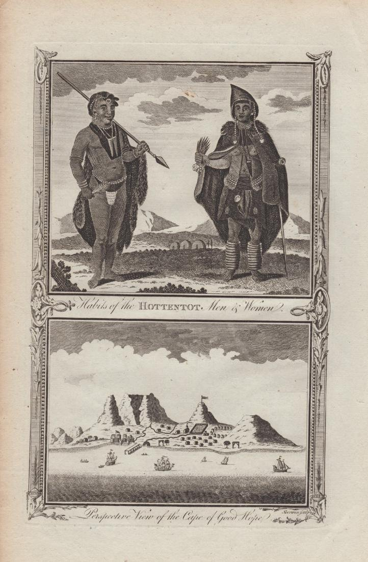 Habits of the Hottentot Men & Women, 1784