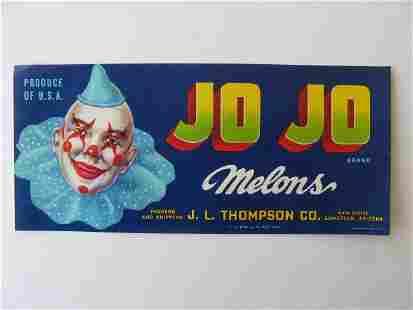 """Jo Jo"" Melon Crate Label"