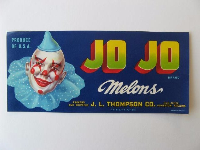 """Jo Jo"" Melon Crate Label"