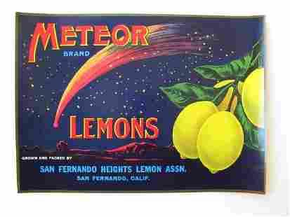 """""""Meteor Lemons"""" Crate Label"""