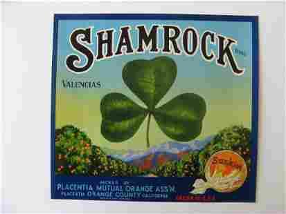 """Shamrock"" Orange Crate Label"