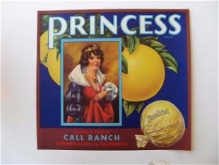 """Princess"" Grapefruit Crate Label"