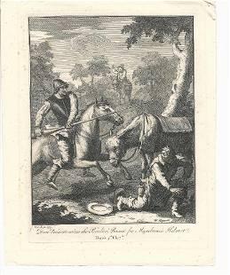 c1822 Engraving Hogarth Don Quixote