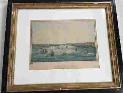 Color Etching of Brooklyn, New York