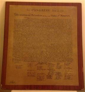 Declaration of Independence U.S Print