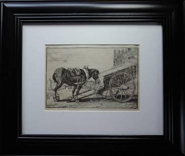 Two Old Master Etchings by Jan van den Hecke