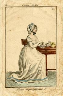 Bonnet Toquet a Fond Plisse, Pierre de La Mésangère
