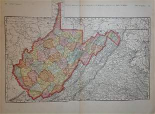 Map of West Virginia, Rand, McNally & Co. 1898