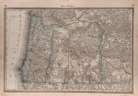 Hardesty: Map of Oregon, 1883