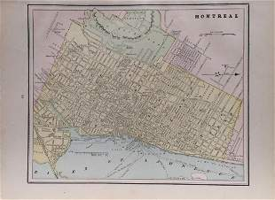Cram's Map of Montreal, 1887