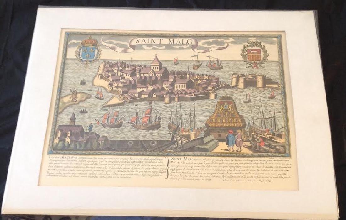 Map Village Harbor, French Saint Malo