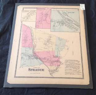 1868 Town Of Sprague Scaled Map