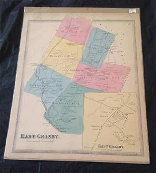 1869 East Granby Scaled Map