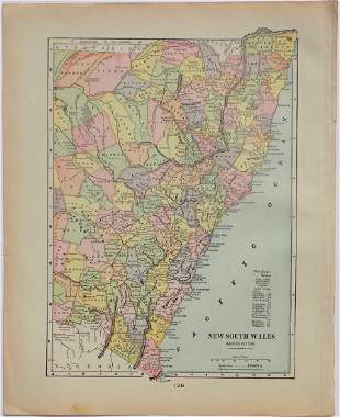 Map of New South Wales, 1902