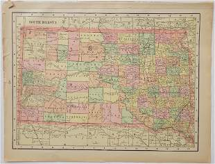 Map of South Dakota, 1902
