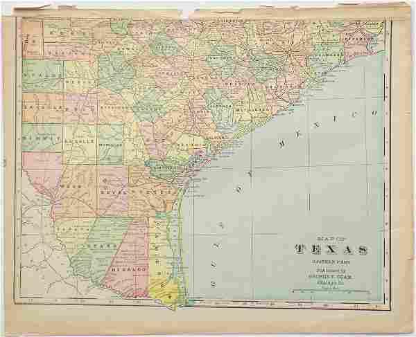 George Cram: Map of Texas, 1902