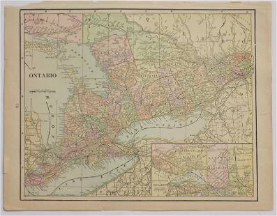 Geroge Cram: Map of Ontario, 1902