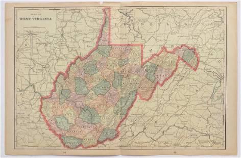 George Cram: Map of West Virginia, 1902