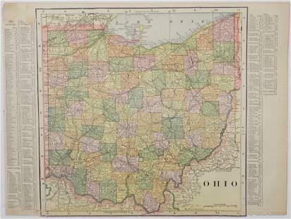 George Cram: Map of Ohio, 1902