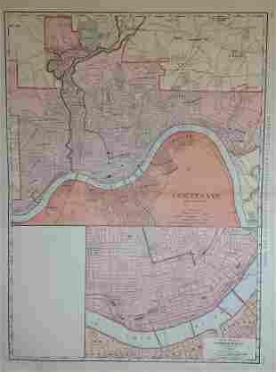 Map of Cincinnati, Rand, McNally & Co. 1898
