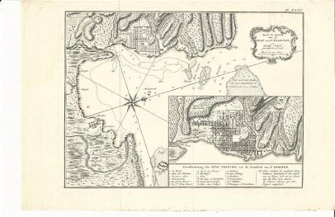 Engraved Map Platte Grond de Kaap van St. Francois 1728