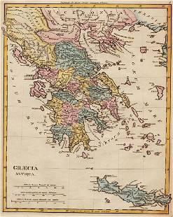 1814 Map of Greece by Robert Wilkinson