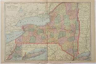 George Cram: Map of New York, 1902