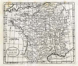 Map of France, 18th Century