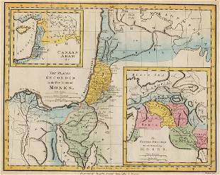 1814 Map of Places Recorded in the Five Books of Moses