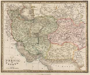 1830 James Wyld Map of Persia and Caubul