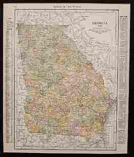1914 Rand McNally Georgia Map