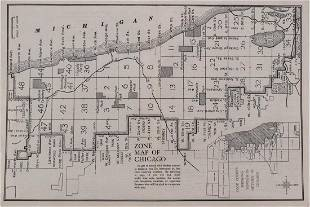 1910 Real Estate Zone Map of Chicago