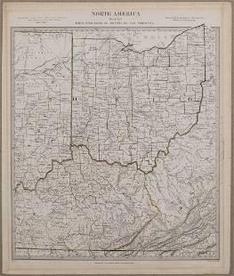 1833 Map of Ohio, Kentucky, Indiana