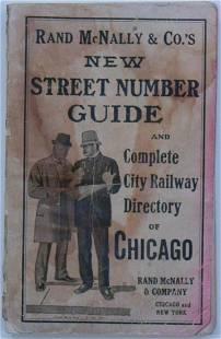 1916 Rand McNally Chicago Railway & Directory