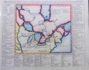 1720 Chatelain Map of the Great Lakes Reproduction