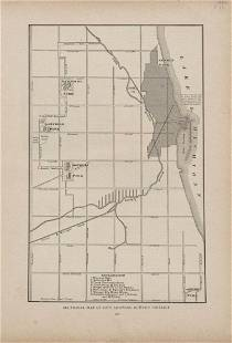 Sectional Map of the City Showing Burned District
