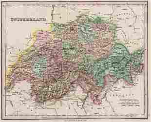 1836 Tanner map of Switzerland