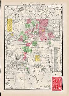 1888 New Mexio, McNally's Indexed Atlas of the World