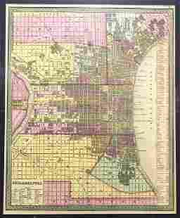 1850 Thomas, Cowperthwait Map of Philadelphia