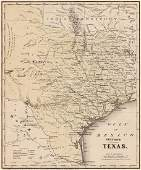 1860 Colton's Map of Texas