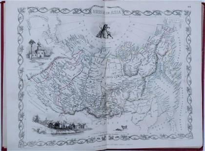 1851 Three Tallis Maps of Russia in Europe & Asia