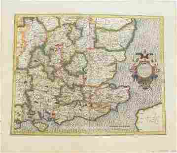 1613 Mercator Map of South East England