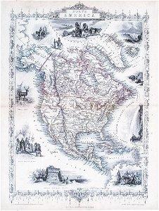 1851 Tallis North America Antique Map