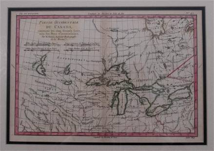 1880 Bonne Map of the Great Lakes