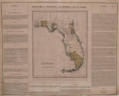 1827 Carey and Lea Historical Map of Florida