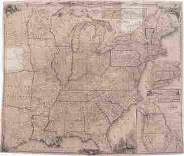 1848 Smith Pocket Map of United States