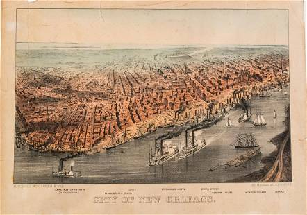 1875 Currier & Ives View of New Orleans