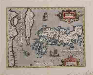 1630 Hondius / Mercator Map of Japan and Korea - Iaponi
