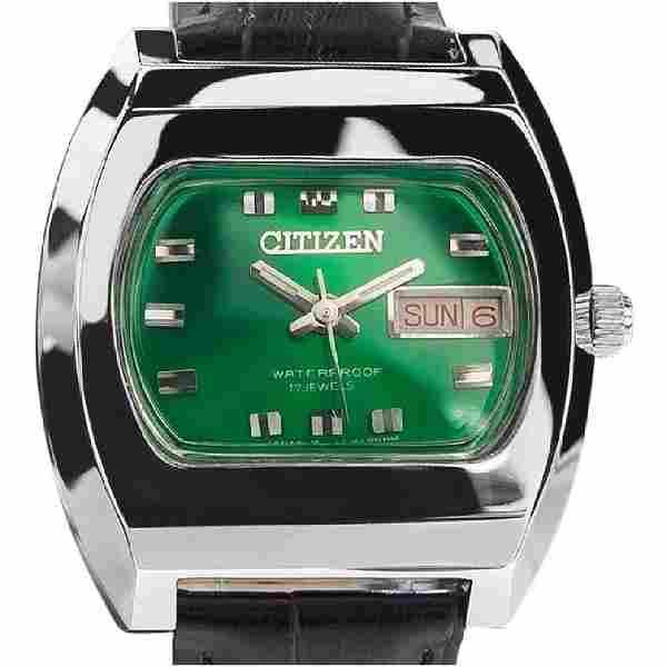 CITIZEN | Emerald Green 17 Jewels | 1968